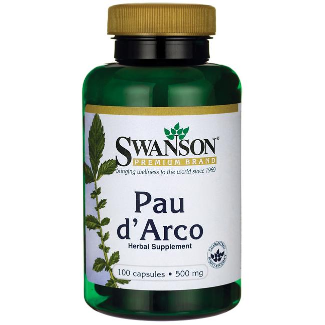 Swanson™ Pau D' Arco, Кора Муравьиного Дерева, 500 мг 100 капсул