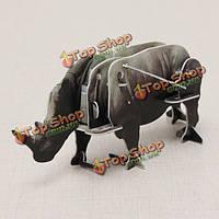 Hopewinning носорога заводные животные 3D пазл DIY воспитательная игрушка