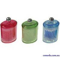 Sagad Емкость косметическая с ватными палочками цветная