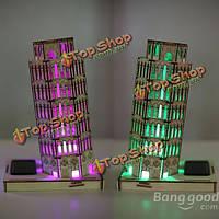 Поделки 3д солнечный деревянный пазл пизанская башня игрушка модель