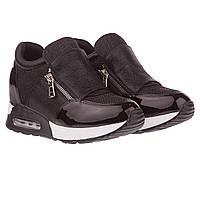 Кроссовки женские Gelsomino (стильный и оригинальный дизайн, с замками-молниями по сторонам, модные, стильные)