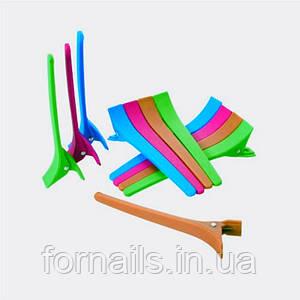 Зажим пластиковый цветной для волос 12 шт ZM-05