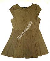 Стильное платье цвета хаки. №214