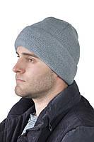 Зимняя мужская шапка ЮХ отворот на флисе
