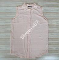 Стильная блузка с кружевным воротничком №74