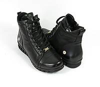 Черные ботиночки на шнурках