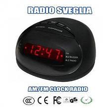 Электронные настольные часы с радио CR-316P   .dr