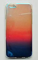 Чехол-накладка Силикон под углом Блестит Полупрозрачный для Apple iPhone 6/6s Градиент