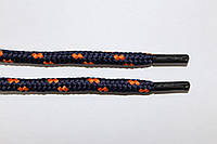 Шнурки 5мм плотные т.синий+оранжевый, фото 1