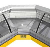 Холодильная витрина угловая РОСС Sorrento УВ-1,1