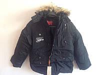 Детская куртка черная  р,140-158