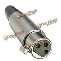 Разъем XLR разъем 3pin гнездо-переходник для диктора микрофонный кабель 18awg кабель серебро