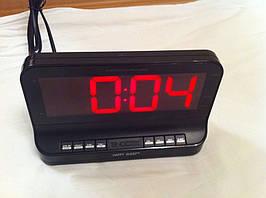 Электронные  цифровые настольные часы с радио R 3160    .dr