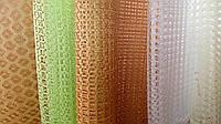 Ткань сетка цветная и белая