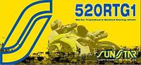 Мото цепь  520 Sunstar SS 520RTG1 золотая размер цепи 520 для мотоцикла количество звеньев 108 - 124 звеньев