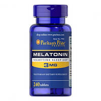 Melatonin 3 мг Puritan's Pride, 240 таблеток