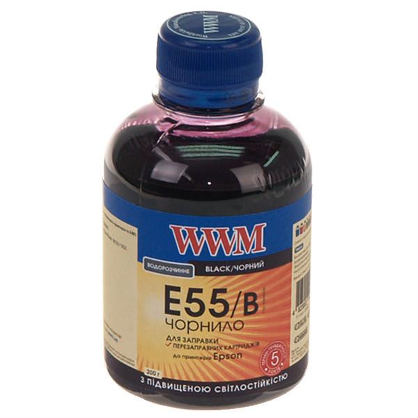 Чернила WWM для Epson Stylus Photo R800/R1800 200г Black Водорастворимые (E55/B) с повышенной светостойкостью