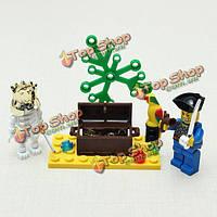 Просветите кирпич человеческий скелет блоки приключения пиратов серия игрушка