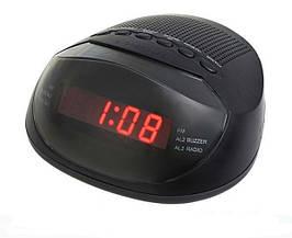 Часы электронные  сетевые Supra CR-318P с будильником и FM радио    .dr
