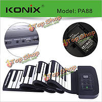 Konix 88 ключевых midi гибкие электронные засучить фортепиано pa88 с батареей