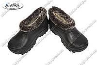 Галоши детские меховые черные (Код: Дет БУМ)