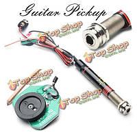 Звукосниматель 6.35 мм конец-контактный Джек регулятор громкости для гитары укулеле