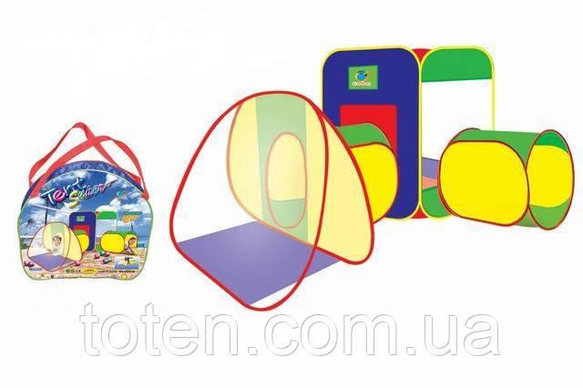 Дитячий намет з 2 тунелями А999-28. Розмір 203*143*46 см 1615