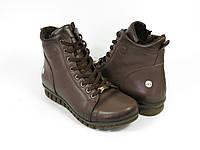 Коричневые стильные ботинки на шнурках, фото 1
