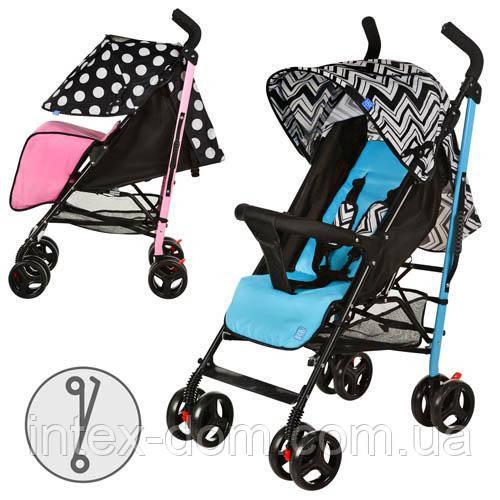 Детская коляска-трость BAMBI Geometry-2 M 2376-1P (Розовая)