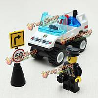 Просветите баррикаду блокпост командной автомобиля Blocks образования игрушки