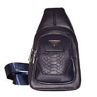 Кожаная сумка на плече. Удобная мужская сумка на плече. Недорогой, качественный рюкзак. Код: КБН8