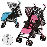 Детская коляска-трость BAMBI M 2719P (Розовая) с корзинкой