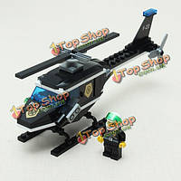 Просветите вертолет расследования строительный блок образовательные игрушки