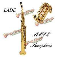 Ладэ BB саксофона сопрано саксофон краской золотой с чехол и аксессуары