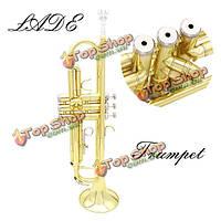 Ладэ Золотая труба BB \Си-бемоль латунная труба с футляром аксессуары