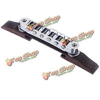 Хром гитара мост ролика седло металл палисандр гитара аксессуары