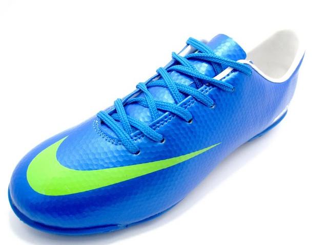 Футбольные сороконожки Nike Mercurial Victory IV Turf Blue/Volt