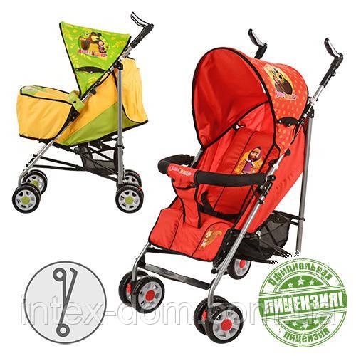 Детская коляска-трость Маша и Медведь MM 0065-2G (Зелёная)