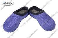 Женские галоши без задника фиолетовые (Код: С-41), фото 1