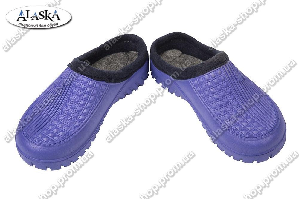 Женские галоши без задника фиолетовые (Код: С-41)