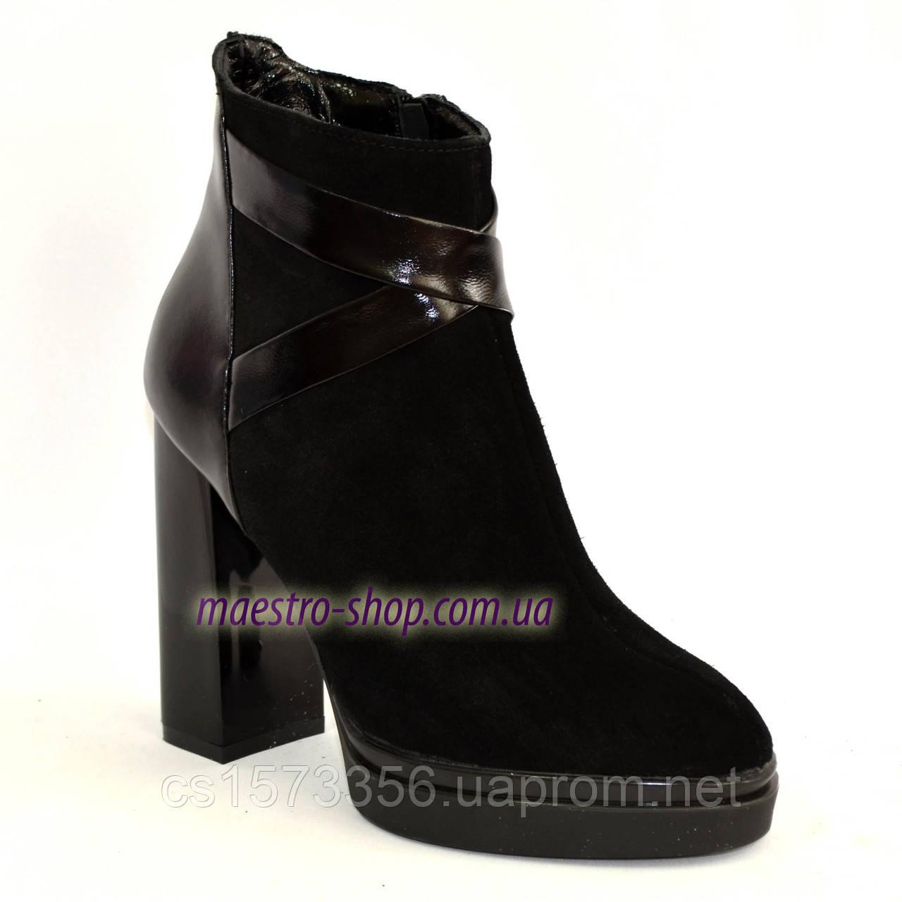 Женские классические ботинки на высоком каблуке, зимний вариант