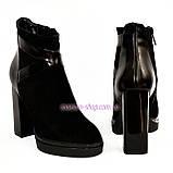 Женские классические ботинки на высоком каблуке, зимний вариант, фото 5