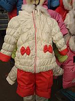 Зимний детский комбинезон на девочку.