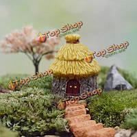 Сказочный сад миниатюрные купольные дома с соломенной крышей микро пейзаж