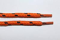 Шнурки 5мм плотные оранжевый+черный, фото 1