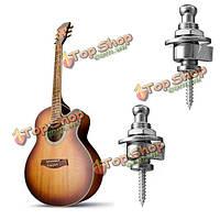 2шт серебро головка хром кнопка straplocks ремень для электрогитары бас