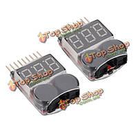 2 x 2в1 LiPo батареи низкого напряжения тестер 1С-8с сигнал тревоги зуммера