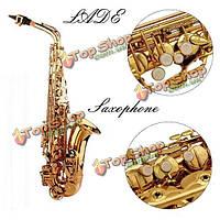 Ладе-Альто ев золотой саксофон Sax краской золотой с чехол и аксессуары