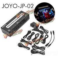 Джойо JP-02 блок питания 2 гитарные педали устройство 10 изолированных выходов LED