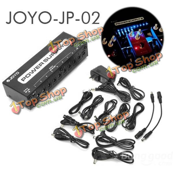 Джойо JP-02 блок питания 2 гитарные педали устройство 10 изолированных выходов LED - ➊TopShop ➠ Товары из Китая с бесплатной доставкой в Украину! в Киеве
